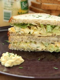 Sandwich aux oeufs et laitue (Egg salad sandwich) - Made In Cooking