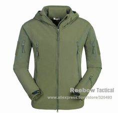 Waterproof Soft Shell Tactical Jacket Army SWAT Military Training Outerwear Coat