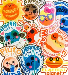 Cosmic Stickies — Starry Cheat Sheet Sticker Collection 1