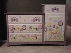 Image Detail for - Painted Furniture Custom Children Furniture Hand painted Baby Girl ...