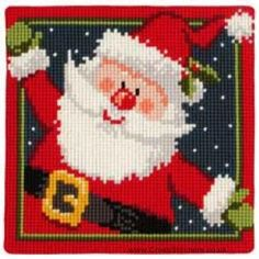 Santa Cushion Front Cross Stitch Kit by Vervaco