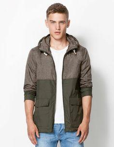 Bershka Romania - Two-tone nylon jacket