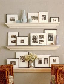 I'd Rather Be..: Photo Display Inspiration