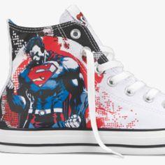 Superman Chuck Taylors <3