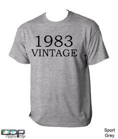 30th Birthday Tshirt 1983 Antique Can by CreativeDropPrinting