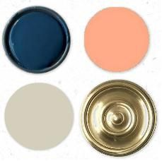 It would be a cute way to get the nursery ready before you know the gender... navy, gold & gray then when you find out the gender add coral/pink for a girl and a lighter blue/teal/green for a boy.