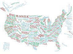 Literary America. I really, really want a large print of this for my house.