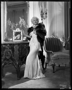 Jean Harlow in SILVER FOX Fur