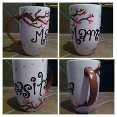 Cherry blossom tree sharpie mug DIY