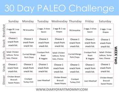 Paleo Week Two Meal Plan - this week looks so yummy! Great to pin and plan meals for later!