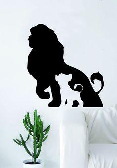 Mufassa Simba Lion King Silhouette Design Decal Sticker Wall Vinyl Decor Art Movie Disney Cartoon Kid Cute Baby - saphire blue