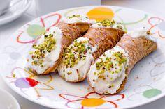 Recipe: 10-Minute Sicilian Cannoli | Italian Sons and Daughters of America Italian Dishes, Italian Recipes, Daughters, Sons, Italian Cookies, Breakfast Lunch Dinner, Cannoli, Sicilian, Serving Platters