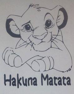Lion King inspired interior vinyl wall decal by wallopalooza Disney Drawings Sketches, Disney Character Drawings, Easy Cartoon Drawings, Animal Drawings, Cute Drawings, Drawing Sketches, Lion King Drawings, Lion Drawing, Lion King Art