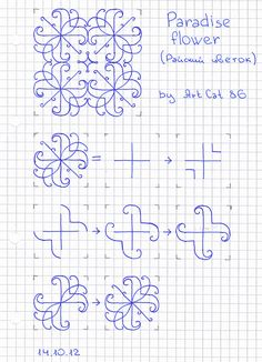 how to draw a beautiful and smooth mehndi flower. Small ...
