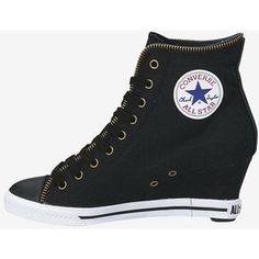 Black converse wedges