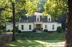 Ryan Duffey Architect painted brick house suisse coffee by Things That Inspire PAINT: triple concentrate of Benjamin Moore SUISSE COFFEE