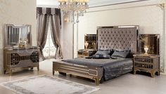 Vertunas Art Deco Bedroom High level interior design with classic style and top-quality Italian &Turkish furniture. Classic Dining Room, Luxury Dining Room, Luxury Bedroom Design, Home Room Design, Interior Design, Bedroom Furniture Uk, Luxury Furniture, Turkish Furniture, New Bed Designs