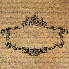 ORNATE French FRAME Empty Great 4 Labels Digital by Graphique, $1.00
