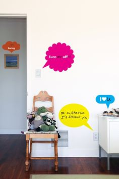 Blik unique wall decals are a fun and creative way to brighten up any room in the house. Browse our selection of wall stickers for sale online. Kids Wall Decals, Removable Wall Decals, Bubble Stickers, Wall Stickers, Music Bedroom, Thought Bubbles, Fun Signs, Room Pictures, Cool Walls