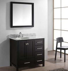 "Caroline Avenue 37"" Single Bathroom Vanity Set with Mirror II"