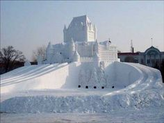 snow sculptures---awesome
