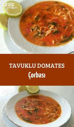 Chicken Tomato Soup - My Delicious Food - Fish Recipes Fish Recipes, Pasta Recipes, Soup Recipes, Dinner Recipes, Chicken Caesar Recipe, Chicken Tomato Soup, Healthy Eating Tips, Healthy Recipes, Turkish Recipes
