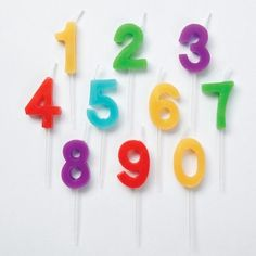Wilton Numbers Candle Pick Set 10 ct : Target