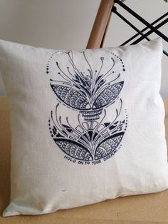 "Doodle pillow, 14"" x 14"" calico scatter pillow, home decor, bespoke throw pillow, printed couch pillow on Etsy, £25.00"