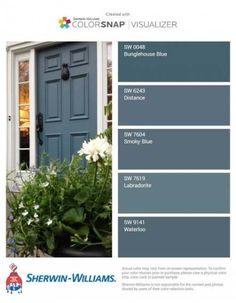 trendy ideas for farmhouse front door color trendy ideas for color doors for farmhouse front doors farmhouseModern masters express themselves from 1 qt. Satin Ambitious Red Water Based Front Door - The Front Door Paint Colors, Exterior Paint Colors For House, Painted Front Doors, Paint Colors For Home, Best Blue Paint Colors, Painted Exterior Doors, Best Front Door Colors, Paint For Front Door, Colored Front Doors