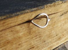 Miss Nora Ring  Sterling Silver Teardrop by SDMarieJewelry on Etsy, $35.00