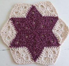 Luty Artes Crochet: Pap de estrela de crochê