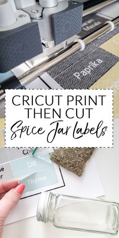 The Cricut Print Then Cut feature is perfect for creating your own Spice Jar Labels. I loved learned how to organize spices! Post partnership with Cricut.