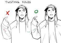 """I recently had to look up my own art tips to remember these twisting folds 😂"" Drawing Techniques, Drawing Tips, Drawing Sketches, Drawings, Memes Arte, Poses References, Digital Art Tutorial, Drawing Reference Poses, Drawing Base"