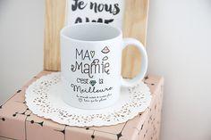 Le Mug Meilleure mamie du monde entier : Cuisine et service de table par crea-bisontine