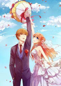OkiKagu discovered by on We Heart It Anime Couples Manga, Cute Anime Couples, Okikagu Doujinshi, Gintama Wallpaper, Anime Wedding, Anime Love Couple, Demon Girl, Anime Characters, Akira
