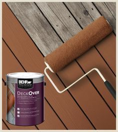 """This is excellent news if you have a wood deck that looks old and weathered, or a pool deck that's cracked and ugly, because you don't have to replace it anymore. Solid Color Coating is an innovative makeover solution for your old, weathered wood and concrete surfaces. More than a stain, it's a solid color coating that extends the life of your deck and concrete outdoor living spaces. It's easy to apply, dries quickly, is slip-resistant, fills cracks up to ¼"""" and covers splinters."""