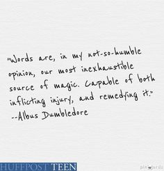 Dumbledore had the best words