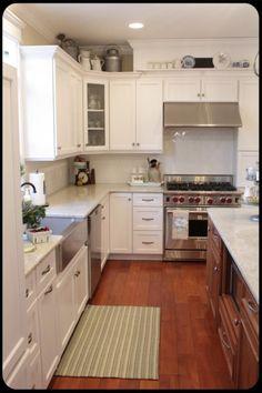 Beautiful white kitchen with pretty displays