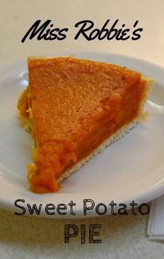Miss Robbie stopped by the Rachael Ray Show to share her recipe for Sky-High Sweet Potato Pie.