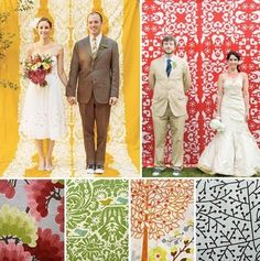 Some beautiful patterns for a photo booth! This blog has lots of great ideas for creative photo booths.