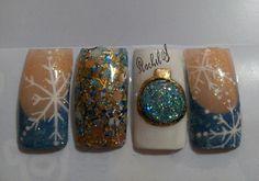 #Copodenieve_mezclita_azul Druzy Ring, Diva, Nails, Rings, Jewelry, Blue, Finger Nails, Jewlery, Ongles