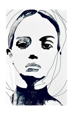 Vanquish - Fashion Illustration Portrait Art Print by Leigh Viner