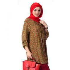 PLUS SIZE  SAKINAH HIJAU  Rp 164,900.00  warna:Merah  II www.fashionbiz.co.id Plus Size, Fashion, La Mode, Fashion Illustrations, Fashion Models