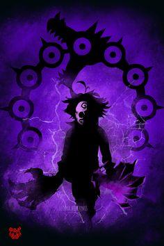 'Demon king' by Ilona Hibernis Evil Anime, Anime Angel, Otaku Anime, Seven Deadly Sins Anime, 7 Deadly Sins, Demon King Anime, Madara Wallpaper, Black Clover Anime, Hero Wallpaper