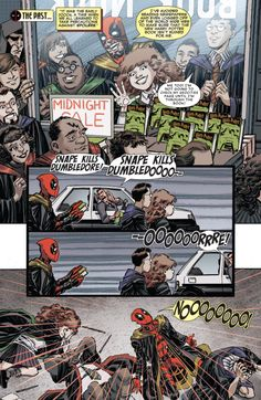 wadewilson-parker:  Kill him. Also : Wade is a Hufflepuff. This pleases me. Deadpool #7 (2015)