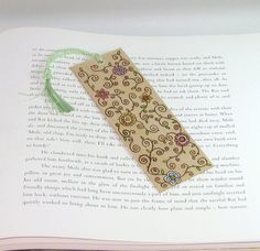 Wooden bookmark  wood pyrography  Mothers day spring by bkinspired