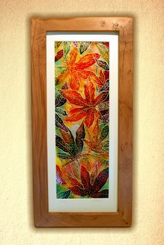 Cascade - Original Glass Painting