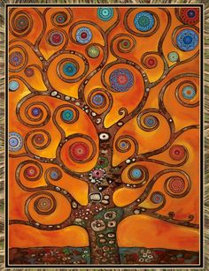 Orange Mandala Tree                                                                                                                                                                                 Mais