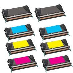 N 10-pack Compatible C746H1KG C748H1CG C748H1MG C748H1YG 2Set + 2BK Toner Cartridge for Lexmark C746DN C746DTN C746N