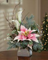 Holiday Silk Flowers|Silk Poinsettias